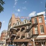 Typically Bostonian brick architecture in an urban street scene. — Stock Photo #75246381