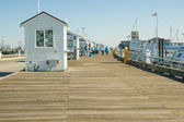 Tourists on pier at Province Town, Cape Cod, USA. — Stock Photo