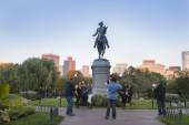 The George Washington Monument  Boston Public Garden,  — Stock Photo