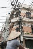 Electrical wiring mayhem — Stock Photo
