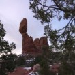 Balancing Rock in Arches National Park — Stock Video #73831009
