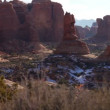 Natural stone monuments in Arches National Park — Stock Video #73833183