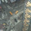 Looking down on Times Square in New York — Stock Video #73833417