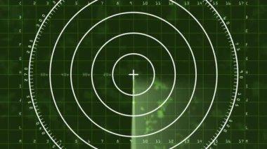 Radar screen displaying clouds — Stock Video