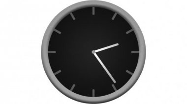 Clock counting down 12 hours — Wideo stockowe