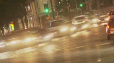 Hollywood Vine Traffic — Vídeo stock