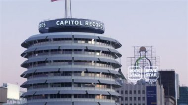 Capitol Records building in Los Angeles — Stock Video