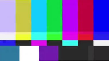 Set of color bars experiencing technical difficulties — Stock video