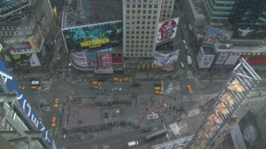 Looking down on Times Square in New York — Video Stock