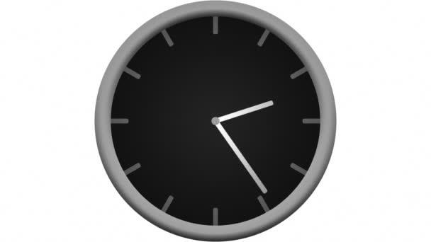 Reloj cuenta regresiva 12 horas — Vídeo de stock
