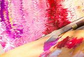 抽象的なパターン、キャンバスに油絵 — ストック写真