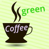 Coffee green, cup of coffee pattern — Stock Vector