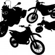 Black silhouettes motorcycle — Stock Vector #73031063