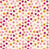 Mönster av färgglada hjärtan — Stockvektor