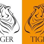 Tattoo tiger logotype — Stock Vector #74895963
