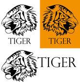 Tattoo tiger logotype — 图库矢量图片