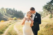 Groom and bride together. Wedding couple. — Stock Photo