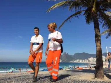 Ipanema Beach Time Lapse Morning — Stock Video
