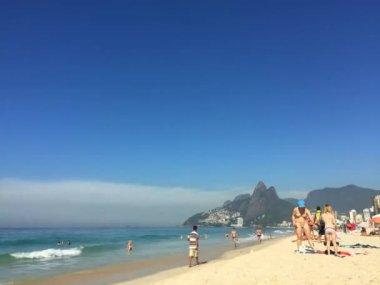 Time Lapse Ipanema Beach Rio de Janeiro Brazil — Stock Video