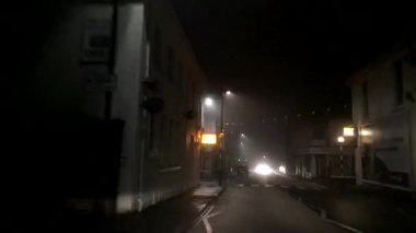 Grainy Foggy Night Time Lapse Drive — ストックビデオ