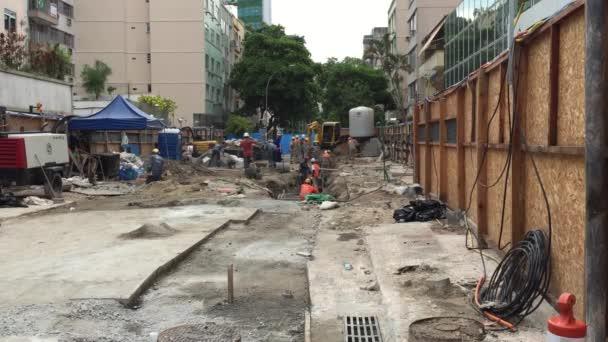 Construction of Linha 4 Subway Line Rio de Janeiro — Vidéo