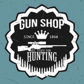 Gun shop logotypes and badges vector set — Stock Vector