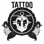 自家製タトゥー t シャツ デザイン — ストック写真