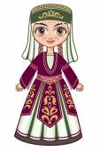 The girl in the Armenian national clothes — Stock Vector