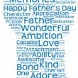 Tag cloud of father's day in the shape of a fatherly figure — Stockfoto #74373209