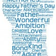 Tag cloud of father's day in the shape of a fatherly figure — Zdjęcie stockowe #74373209