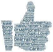 Tag cloud of father's day in the shape of facebook like — Stock Photo