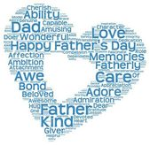 Tag cloud of father's day in heart shape — Stock Photo