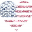 Tag cloud of 4th of july in the shape of flag in the heart — Stock Photo #75979325