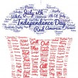 Tag cloud of 4th of july in the shape of cupcake — Stock Photo #75979331