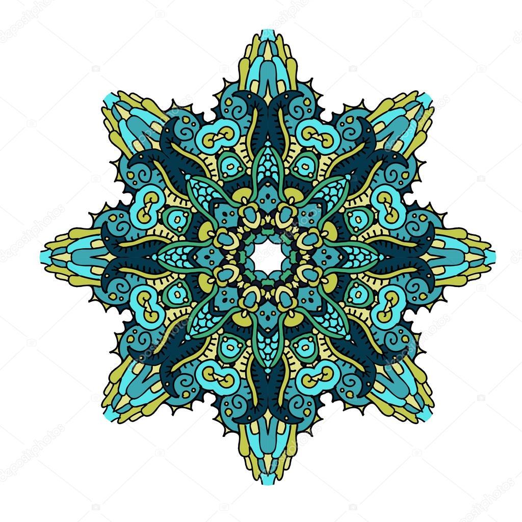 Mandala en colores marinos archivo im genes vectoriales - Colores para mandalas ...