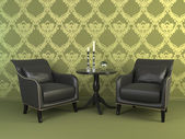 Interior with two armchairs. — Stock Photo