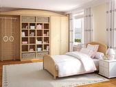 Interior de dormitorio de niña. — Foto de Stock