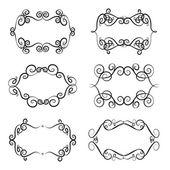 Set of vintage frames and borders. Design elements. Decorative ornamental frame for text — Vetor de Stock