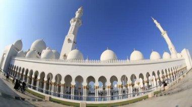Time lapse Sheikh Zayed Grand Mosque Abu Dhabi UAE — Stock Video