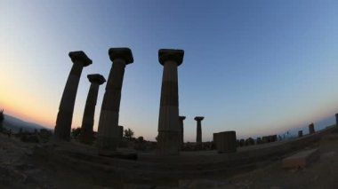 Ancient city of Assos — Stock Video