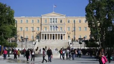 Syntagma Square and Parliament Building — Stock Video