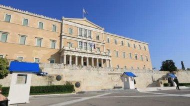 Parliament Building Capital Cities Athens — Stock Video