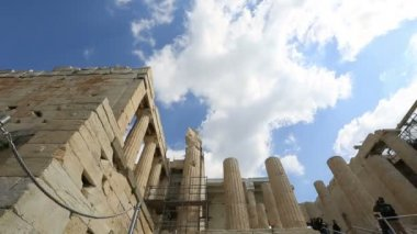 Time lapse Ancient Acropolis in Athens Greece — Stock Video