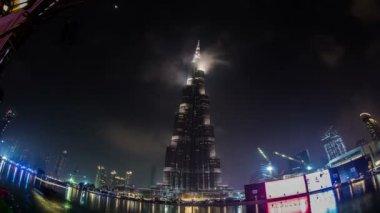 Famous place Burj Khalifa — Stock Video