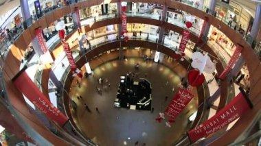 Time lapse The Dubai Mall in United Arab Emirates UAE — Stock Video