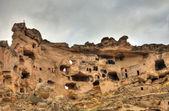 Famous cave city  Cappadocia at Turkey, HDR photography — Stock Photo