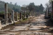 Ruins columns street — Stock Photo