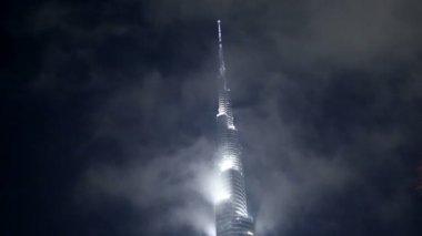 Close up famous place Burj Khalifa Tower — Stock Video