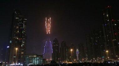 New year fireworks show at Burj khalifa in Dubai series 4 — Stock Video
