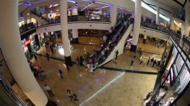 Time lapse Mall of the Emirates in Dubai United Arab Emirates — Stock Video